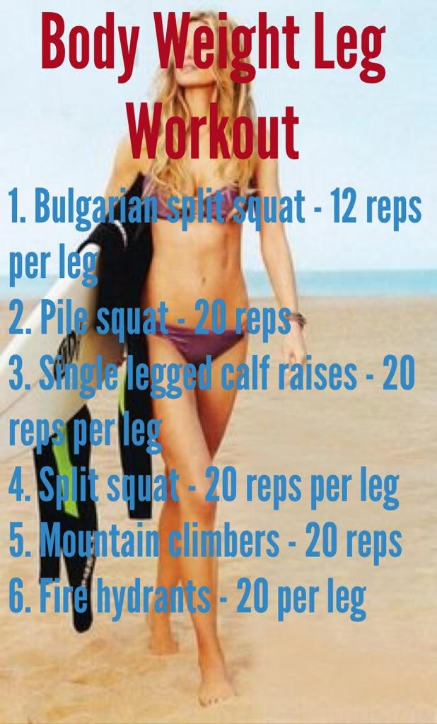 Quick Body Weight Leg Workout