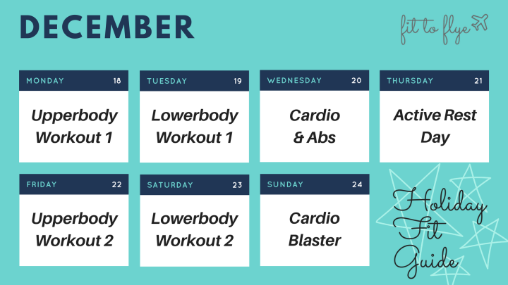 ***NEW*** Holiday Fit Guide Printable Calendars!