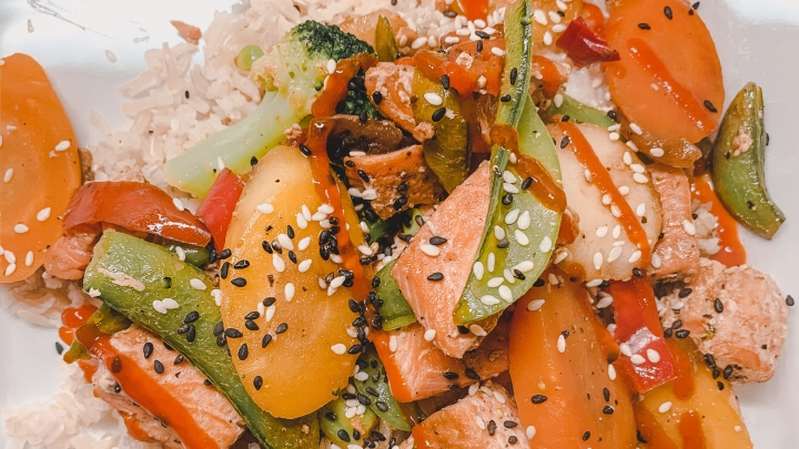 Healthy, Easy & Quick Salmon Stir-Fry